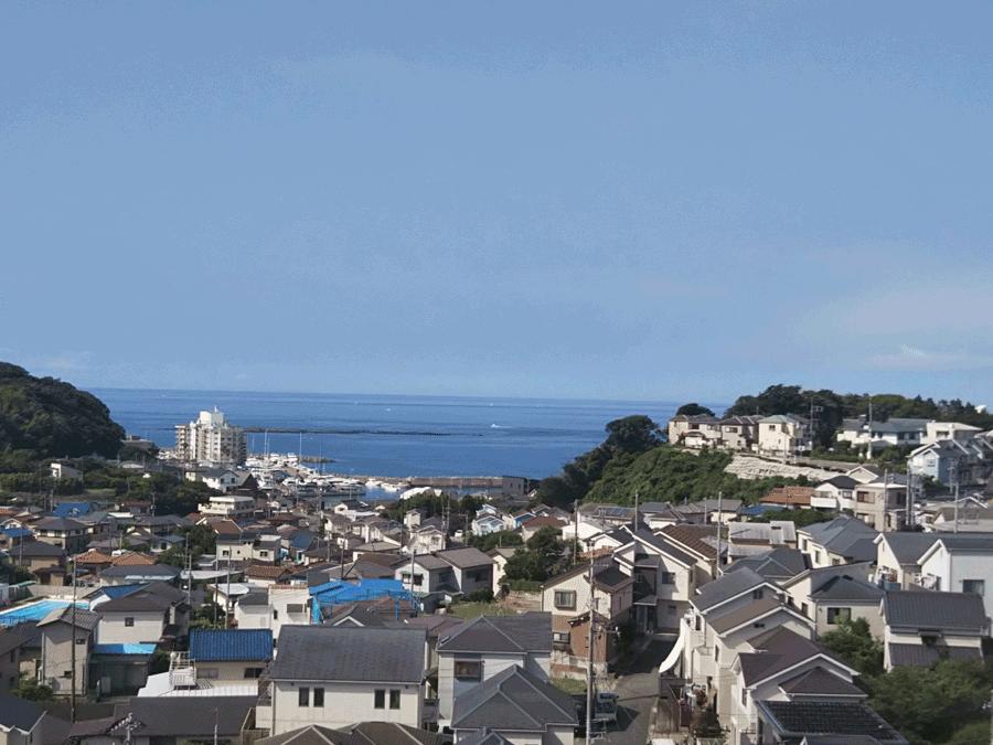 窓から見える芦名海岸ビュー