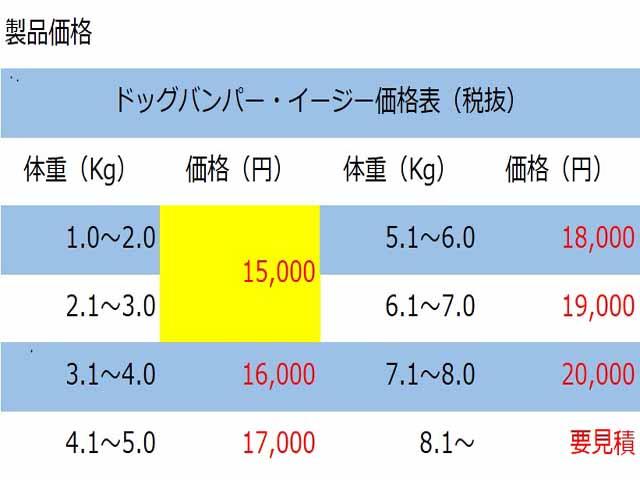 ドッグバンパー・イージー価格表